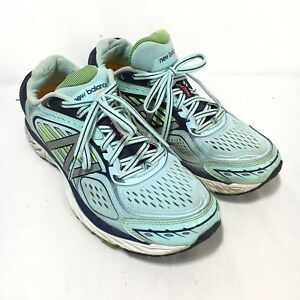 New Balance Support 860v7 Womens 8.5 B Blue White Lace Up Running ... 5a78f3743c7