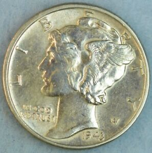 UNCIRCULATED-1943-P-Silver-Mercury-Dime-90-Silver-Fast-Shipping-76796