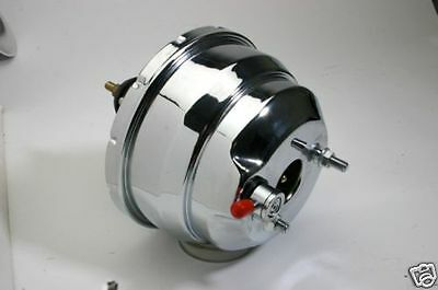 """NEW 8"""" DUAL DIAPHRAGM CHROME BRAKE BOOSTER STREET ROD HOT ROD FORD CHEVY"""