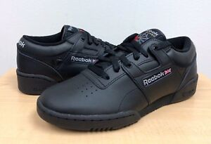 2ea8c5313f40e Image is loading MENS-REEBOK-CLASSIC-WORKOUT-LOW-Int-Black-Light-