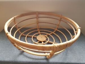 Details about LARGE ROUND WICKER BASKET IKEA Sindad collection discontinued