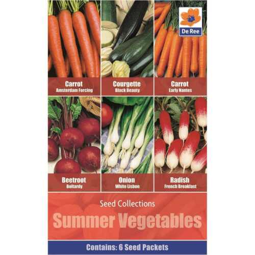 Summer Vegetables 6 varieties Carrots Beetroot Spring Onion Courgette Radish