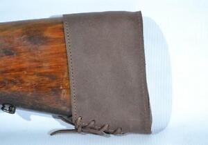 Cuir Véritable Marron Butt Pad Magpul Recul Slip On Buttstock Shotgun Gun Neuf-afficher Le Titre D'origine