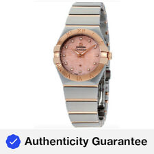 Omega Constellation Quartz Movement Rose Gold Dial Ladies Watch 12320276057004