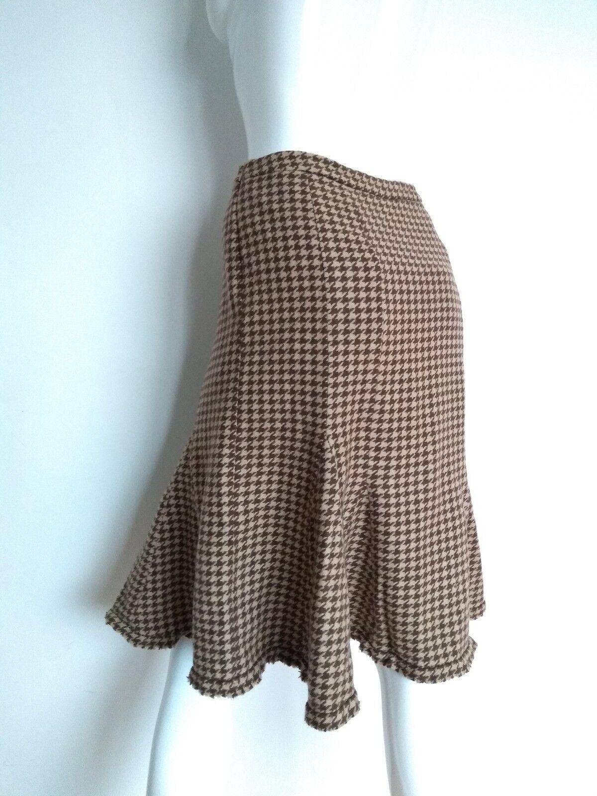 WEEKEND by Max Mara Vintage houndstooth print skirt size 12 --USED TWICE-- wool