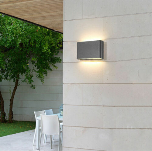 1//10x COB 6W 12W LED Wall Light Dual Head Sconce Lamp Outdoor Light Fixture IP65