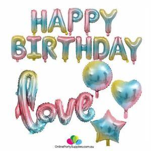 Pastel-Iridescent-Rainbow-Happy-Birthday-Love-Script-Heart-Star-Round-Shape-Foil