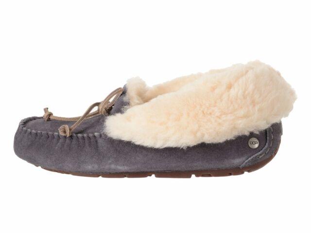 1ec6a212be9 UGG Australia Alena Nightfall Fur Suede Slippers Womens Size 7