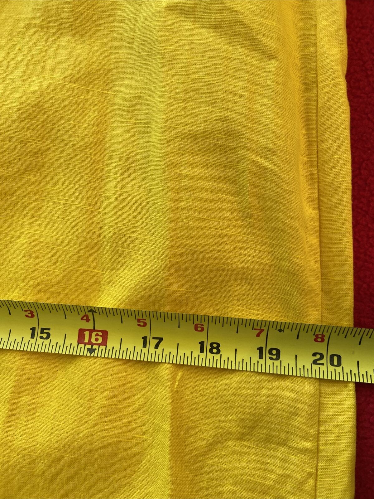 floryday bright yellow linen shift dress size med… - image 10