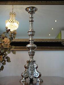 Kirchenleuchter-Silber-Antik-Barock-XL-Kerzenleuchter-Kerzenhalter-Kerzenstander