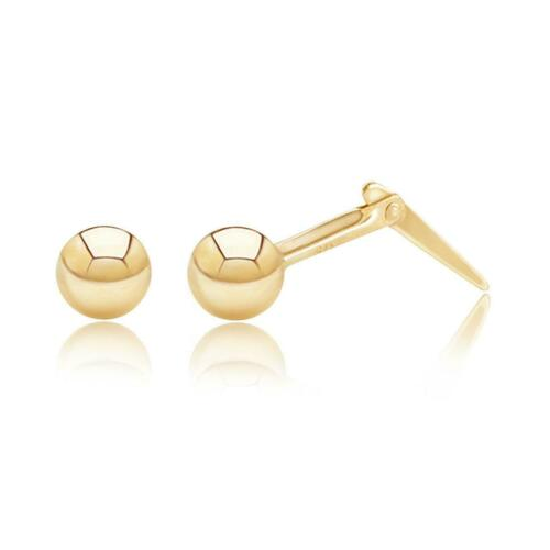 stud earrings 9ct Yellow Gold 3 mm small Andralok ball studs gift box