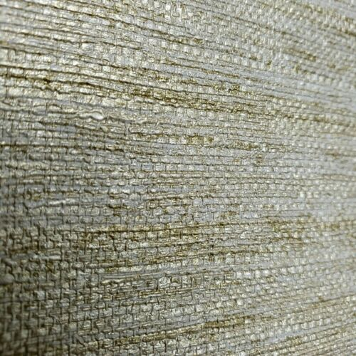 Modern Wallpaper taupe Cream Rustic Gold Brass metallic faux grasscloth texture