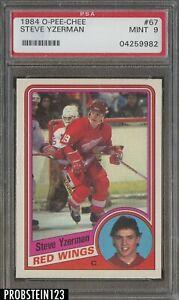 1984-O-Pee-Chee-OPC-Hockey-67-Steve-Yzerman-Red-Wings-RC-Rookie-HOF-PSA-9-MINT