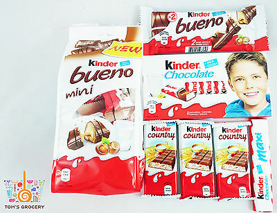Ferrero KINDER Chocolate CRAZY SWEET MIX Bueno Country MAKE IT YOURS!