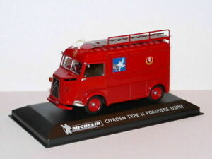 MICH5 voiture 1/43 IXO altaya MICHELIN : CITROËN type H pompiers usine