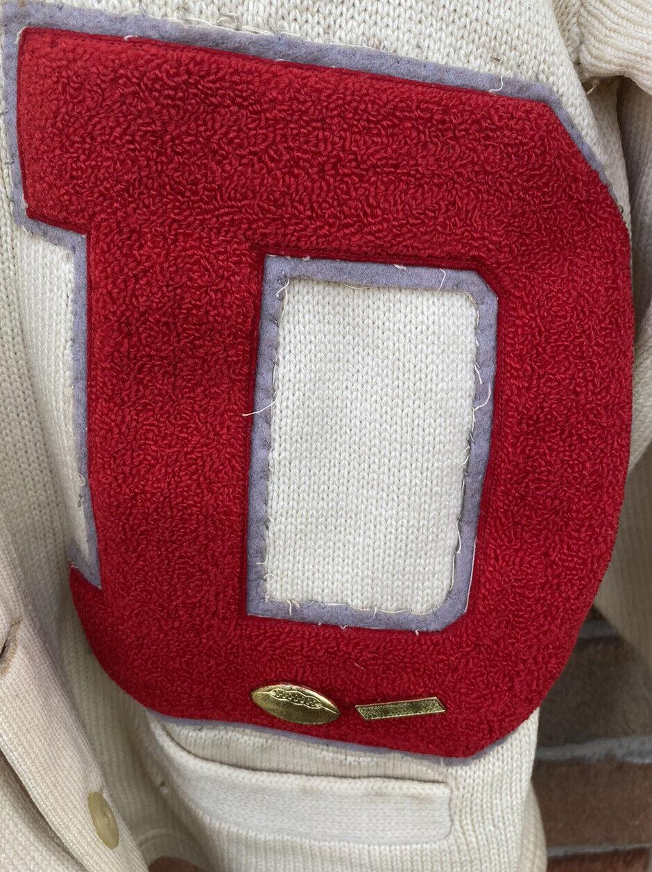 Vintage School Varsity Football Sweater Sears Let… - image 3