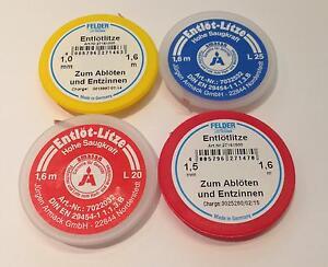 Entloetlitze-SMD-Sauglitze-Spule-FELDER-Loetzinn-1-0-1-5-2-0-2-5-mm-1-6m-NEU-OVP