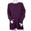 thumbnail 1 - J. Jill Chenille Plum Purple Soft Cable Knit Crew Neck Chunky Sweater Size Large