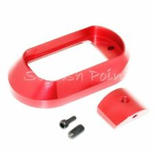 5KU T?ctico Magwell para Marui//We-Tech Hi-Capa Serie Airsoft GBB Rojo