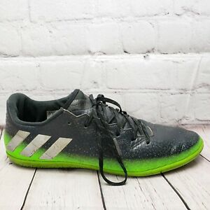 Details about Adidas Messi 16.3 Indoor Soccer Shoes Mens Size 7 M UK 6.5 Black Green Sneakers