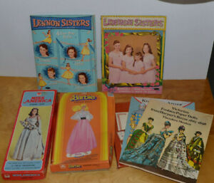VINTAGE-PAPER-DOLLS-LOT-LENNON-SISTERS-MISS-AMERICA-BARBIE-AMERICAN-GIRL-KNIGHTS