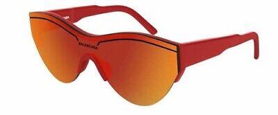 Balenciaga Bb0004s 003 Sunglasses Red Occhiale Sole Red Lenses