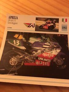 Aprilia-250-AF1-V-Loris-Reggiani-1992-Tarjeta-motorrad-Coleccion-Atlas
