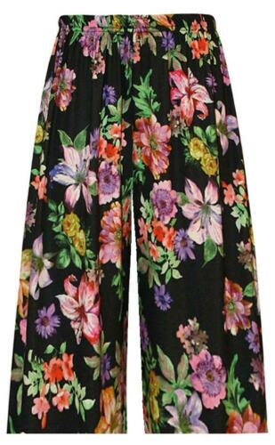 New Womens Wide Leg High Waist Casual Loose Pants Culottes Trousers 16-26