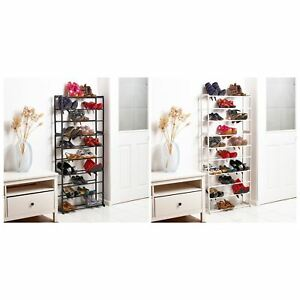 Vinsani-10-Tier-Shoe-Storage-Rack-Organiser-Shelf-Hold-Stand-30-Pairs