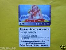 cartes de telephone 1997 phone cards 50P coca cola coke the coke telefonkarten