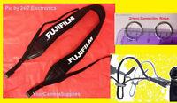 Neoprene Shoulder Neck Strap 4 Fuji Fujifilm Xm-1 Xe-2 X-pro1 X-t1 X-a1 +2 Rings