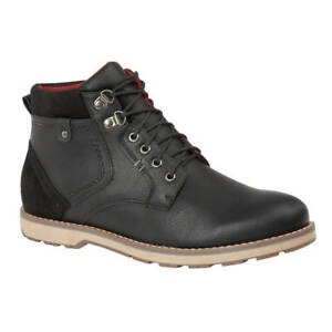 Men-039-s-Casual-Smart-Modern-Lace-up-Boots-Black
