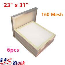 New Listingus Stock 6pcs 23 X 31 Aluminum Silk Screen Frame With 160 Mesh White