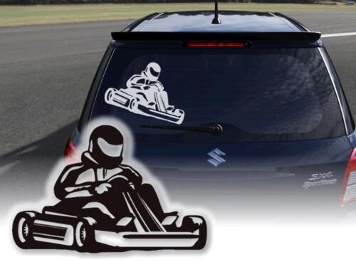 Aufkleber Kart Kartsport Kartbahn Sticker Klebefolie Auto Werbeaufkleber Decals