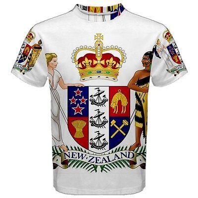 New Zealand Coat of Arms Sublimated Sublimation T-Shirt S,M,L,XL,2XL,3XL