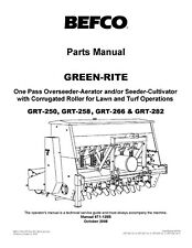 Befco Greenrite Grt Series Seeder Grt 250 258 266 282 Operator Amp Parts Manual 12
