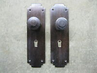 Pair of Original Reclaimed Art Deco 1930`s Ebony Door Knobs 0202
