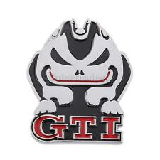 Evil Rabbit 3D Metal Car GTI Decal Logo Emblem Badge Sticker Red