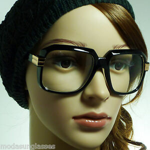 80s Rapper Square Dj Nerd Gazelle Run Unisex Frame Clear Lens Eye Glasses