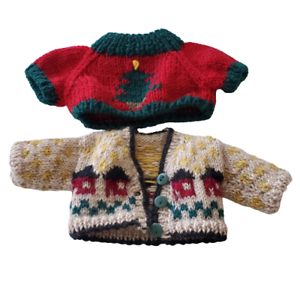 Vintage-Boyds-Bear-Collection-Bearwear-Two-Boyds-Sweaters-1990-039-s