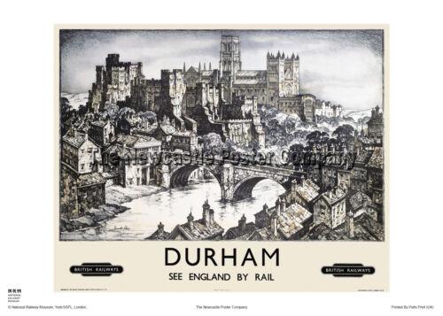 DURHAM CASTLE CATHEDRAL POSTER VINTAGE RAILWAY RETRO ADVERTISING TRAVEL ART
