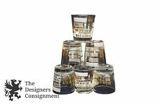 6 Vtg Novelty Highball Glasses On the Rocks Measurement Lines Scotch Whisky