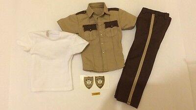 Custom 1/6 Scale Police Sheriff Uniform Badge Set the walking dead Rick Grimes