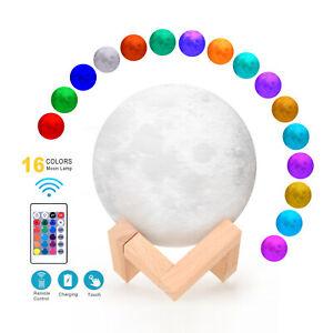 3D-Lunar-Night-Light-Moon-Lamp-16-Color-Change-TouchControl-Gifts-8cm-20cm-G7M8