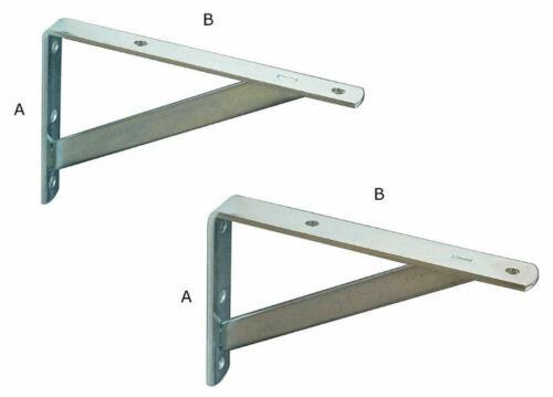 Material: 4 mm Stahl verzinkt 20 mm breit 20 Regalträger  10 cm x 15 cm A B