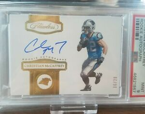 2017-Flawless-Christian-McCaffrey-Autographed-Rookie-Card-Graded-PSA-9-Panthers
