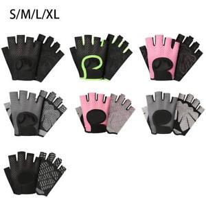 Half Finger Work Out Gloves Women Men Weight Lifting Gym Sport