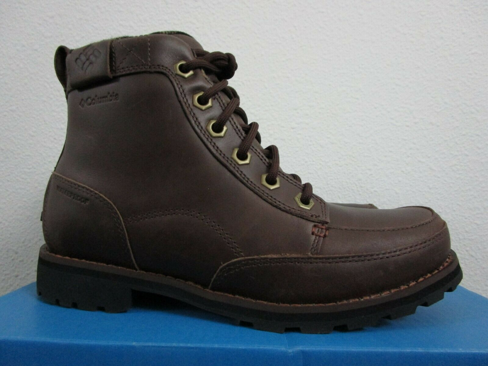 db8c9a6737d NIB Mens Columbia Marquam WP Waterproof Casual Leather Lace Up Boots - Brown