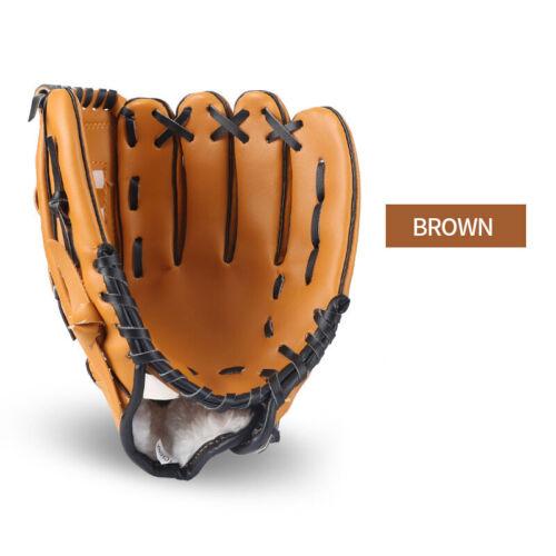"10.5/"" 11.5/"" 12.5/"" Team Sports Left Hand Youth Baseball Softball Glove Mitt Brown"
