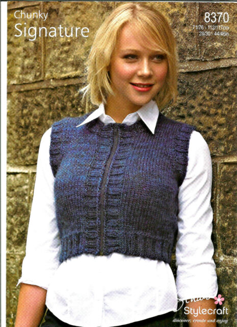Stylecraft Signature Easy Knit Chunky Knitting Pattern Ladies Gilet